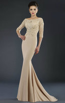 Janique - 7521 Dress in Champagne