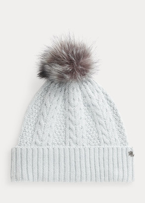 Ralph Lauren Metallic Pom-Pom Hat