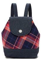 Tommy Hilfiger Big Girl's Denim Plaid Backpack