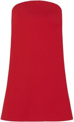 Strapless Swing Dress in Red
