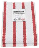 Now Designs Basketweave Kitchen Dishcloth, Set of Two, Red