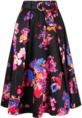 MSGM floral-print A-line skirt