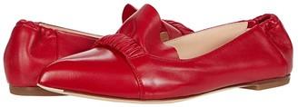 AGL Ruffle Ballet Flat (Scarlet) Women's Shoes
