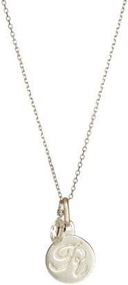 "Anzie ""R"" Initial Disc Pendant Necklace"