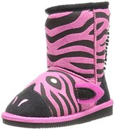 Muk Luks Kids' Animal Fuschia Zebra Pull-on Boot, 8 M US Toddler