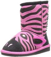Muk Luks Kids' Animal Fuschia Zebra Pull-On Boot