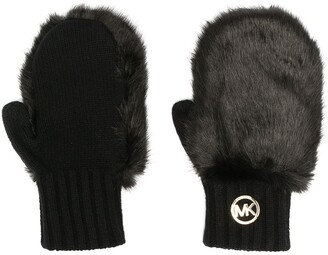 MICHAEL Michael Kors Faux-Fur Detail Gloves
