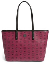 MCM Medium Anya Coated Canvas Tote - Red