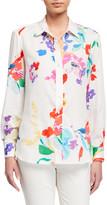 Finley Petite Alex Wild Floral Button-Down Shirt
