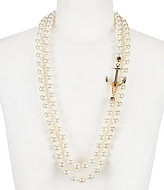 Anna & Ava Double-Strand Faux-Pearl & Anchor Statement Necklace