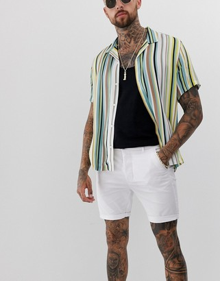 Asos Design DESIGN super skinny chino shorts in white