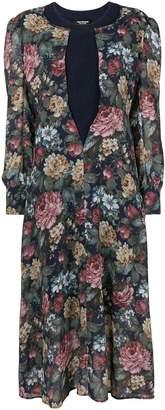 Junya Watanabe ribbed knit sheer floral dress