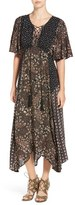 Ella Moss Women's Floral Patchwork Maxi Dress