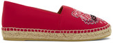 Kenzo Red Neoprene Classic Tiger Espadrilles