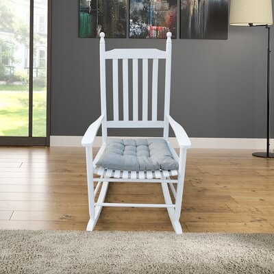 Alcott Hill Rehoboth Rocking Chair Color: White