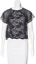 Timo Weiland Short Sleeve Lace Top