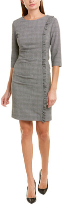 Sara Campbell Wool-Blend Sheath Dress