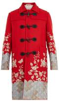 Gucci Floral-embroidered wool overcoat