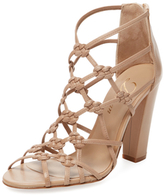 Delman Scandl Knotted Metallic Leather Sandal