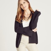 Apricot Black Knit Flute Sleeve Cardigan