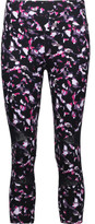Yummie by Heather Thomson Leah cropped printed mesh-trimmed stretch-jersey leggings
