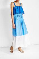 Diane von Furstenberg Tiered Cotton Dress with Silk