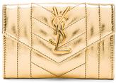 Saint Laurent Small Monogram Quilted Wallet