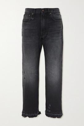 R 13 Distressed Boyfriend Jeans - Black