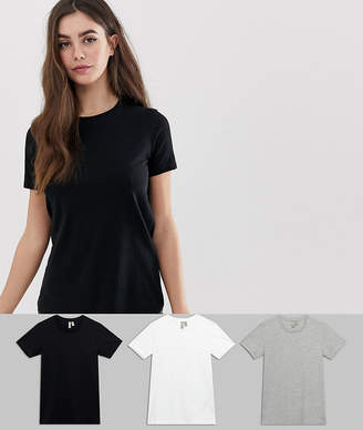 Asos Tall DESIGN Tall ultimate t-shirt with crew neck in 3 pack SAVE