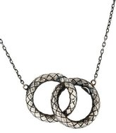 Bottega Veneta Argento Antico Lucid Pendant Necklace w/ Tags