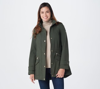 Dennis Basso Water Resistant Bonded Jacket with Hidden Hood