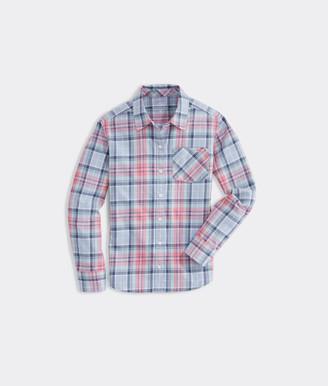 Vineyard Vines Girls' Flannel Button-Down Shirt
