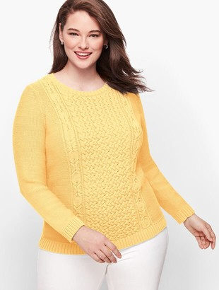 Talbots Mixed Cableknit Sweater