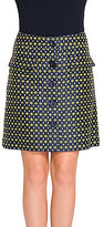 Max Studio by Leon Max Diamond Jacquard Button Front Skirt