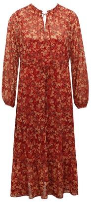 M&Co Chiffon tiered midi dress
