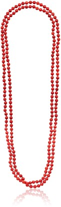 """Barse Endless Stones"""" Red Magnasite Necklace 80"""""""