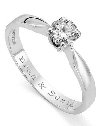 Marisota Moissanite Personalised 1/2 Carat Ring