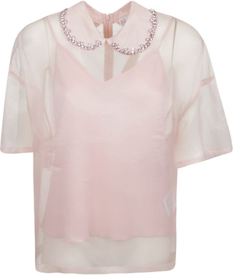 RED Valentino See-through Detail Blouse