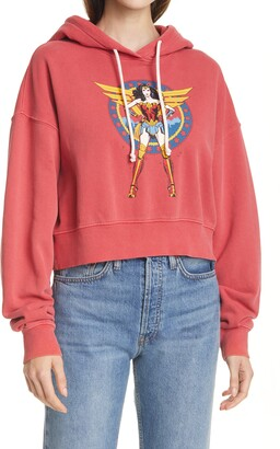RE/DONE Women's WW84 Comic Crop Graphic Hoodie