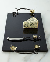 Michael Aram Gold Orchid Cheese Board & Knife