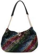Sonia Rykiel sequined striped shoulder bag - women - Satin Ribbon - One Size