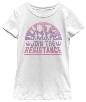Fifth Sun Star Wars Big Girl's Last Jedi Silhouette Join The Resistance Short Sleeve T-Shirt