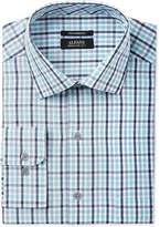 Alfani Men's Classic/Regular Fit Performance Stretch Easy Care Outline Check Dress Shirt, Only at Macy's