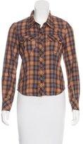 Etoile Isabel Marant Plaid Button-Up Top