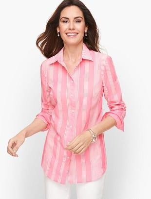 Talbots Classic Cotton Shirt - Breezy Stripes