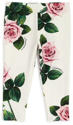 Dolce & Gabbana Kids Tropical Rose Leggings (3-30 Months)
