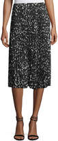 Vince Camuto Animal Whispers Printed Pleated Skirt