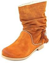 Coolway Noreen Women Round Toe Suede Mid Calf Boot.