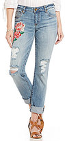 KUT from the Kloth Catherine Floral Embroidery Boyfriend Jeans