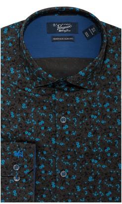 Original Penguin Slim Fit Floral Print Dress Shirt